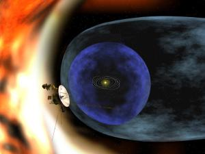Voyager encounters the outer boundary of the Solar System